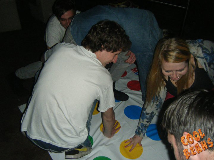 Cool Beans Live begun its life at The Raynor Lounge (sometimes know as the Drainer Lounge). It featured hit tunes (known as anthems), a monkey costume and a Twister mat.