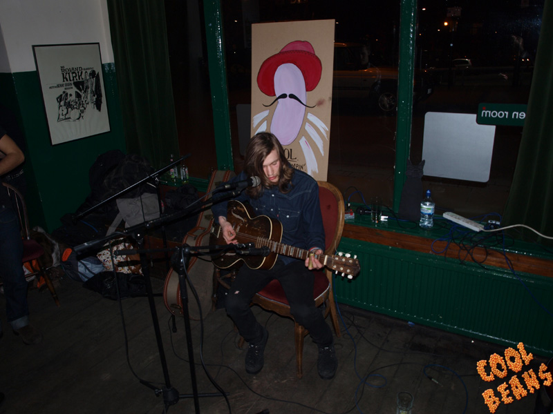 Rob from Wet Nuns performing a special acoustic set at The Green Room.